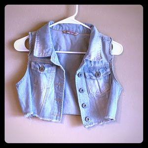 Highway jeans Jr size medium cropped denim vest